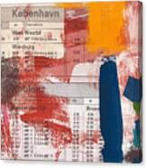 Last Train To Kobenhavn- Art By Linda Woods Canvas Print