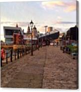 Late Afternoon At Albert Dock Canvas Print