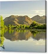 Late Afternoon At Rio Verde River Canvas Print