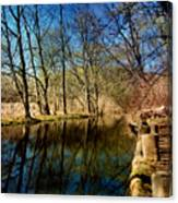 Late Afternoon Canal Canvas Print
