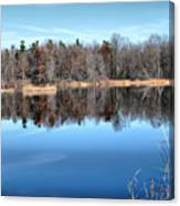 Late Autumn Reflections Canvas Print