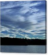 Late Day Clouds Over Mountainss Canvas Print