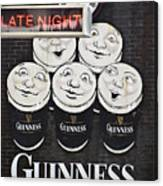Late Night Guinness Limerick Ireland Canvas Print