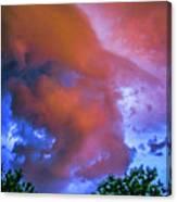 Late Night Nebraska Shelf Cloud 010 Canvas Print