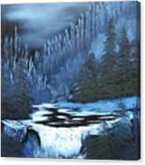 Late Night Waterfall Canvas Print