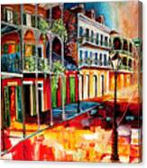Late On Royal Street Canvas Print