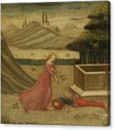 Lateral Panel From A Cassone Canvas Print