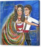 Latin Dancers 11 Canvas Print
