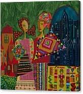 Latino In New York Canvas Print