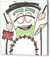 Latte Drummer Canvas Print