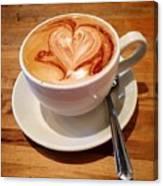 Latte Love Canvas Print