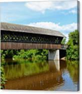 Lattice Covered Bridge Canvas Print