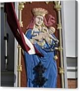 Latvia, Riga, Virgin Mary And Jesus Canvas Print