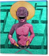 Laughing Gardener Canvas Print