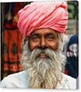 Laughing Indian Man In Turban Canvas Print