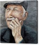 Laughing Old Man Canvas Print