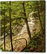 Laughing Whitefish Falls 2 Canvas Print