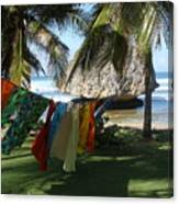 Laundry Day In Barbados Canvas Print