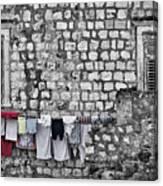 Laundry Line - Dubrovnik Croatia #3 Canvas Print