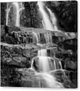 Laurel Falls B And W 2 Canvas Print