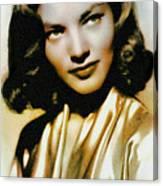 Lauren Bacall - Vintage Painting Canvas Print