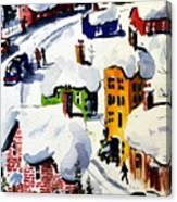 Laurentian Snows Canvas Print