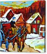 Laurentian Village Ride Canvas Print