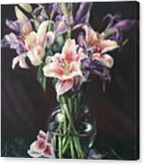 Laurette' Lillies Canvas Print