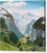 Lauterbrunnen Valley Switzerland Canvas Print
