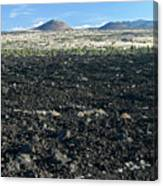 Lava Flow And Schonchin Butte, Lava Beds Nm, California, Usa Canvas Print