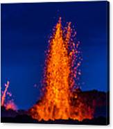 Lava Fountains At The Holuhraun Fissure Canvas Print