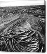 Lava Landscape - Bw Canvas Print