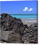 Lava Rocks At Haena Beach Canvas Print