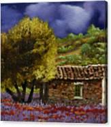 Lavanda Sotto Il Cielo Blu Canvas Print