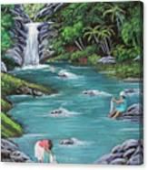 Lavando Ropa    Washing Clothes Canvas Print