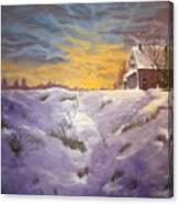 Lavendar Snow Canvas Print