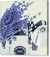 Lavender And Kodak Brownie Camera Canvas Print
