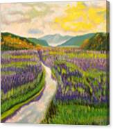 Lavender Brook Canvas Print