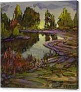 Lavender Field, Langley B C Canvas Print