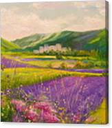 Lavender Fields Landscape Canvas Print