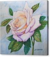 Lavender Rose Canvas Print