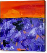 Lavender Sunset Abstract Landscape Canvas Print