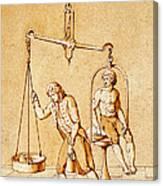 Lavoisiers Respiration Experiments Canvas Print