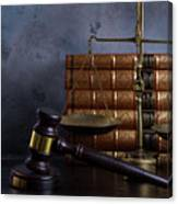 Law And Justice II Canvas Print