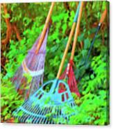 Lawn Tools Canvas Print