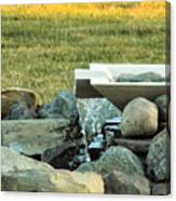 Lawn Water Feature Canvas Print