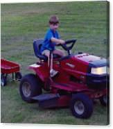 Lawnmower Boy Canvas Print