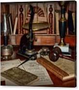 Lawyer - A Lawyers Desk Canvas Print