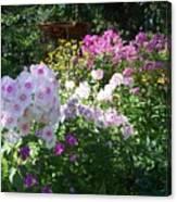Layered Florals Canvas Print