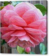 Layers Of Pink Camellia - Digital Art Canvas Print
